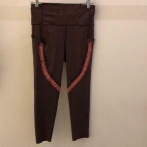 Lululemon light mocha wiry pink legging, sz 8